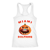 NFL – Halloween Pumpkin Miami Dolphins Football NFL Shirts-T-shirt-Next Level Racerback Tank-White-XS-Itees Global