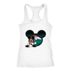 NFL – Denver Broncos Mickey Mouse Football Shirts-T-shirt-Next Level Racerback Tank-White-XS-Itees Global