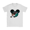 NFL – Atlanta Falcons Mickey Mouse Football Shirts-T-shirt-Gildan Womens T-Shirt-White-S-PopsSpot