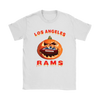 NFL – Halloween Pumpkin Los Angeles Rams Football NFL Shirts-T-shirt-Gildan Womens T-Shirt-White-S-Itees Global