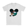 NFL – Denver Broncos Mickey Mouse Football Shirts-T-shirt-Gildan Womens T-Shirt-White-S-Itees Global
