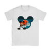 NFL – Cleveland Browns Mickey Mouse Football Shirts-T-shirt-Gildan Womens T-Shirt-White-S-Itees Global