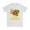 NFL - Denver Broncos Sunflower Football NFL Shirts-T-shirt-Gildan Womens T-Shirt-White-S-Itees Global