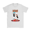 NFL - Cleveland Browns Rick And Morty Football NFL Shirts-T-shirt-Gildan Womens T-Shirt-White-S-PopsSpot