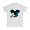 NFL – Carolina Panthers Mickey Mouse Football Shirts-T-shirt-Gildan Womens T-Shirt-White-S-Itees Global