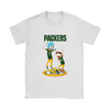 NFL - Green Bay Packers Rick And Morty Football NFL Shirts-T-shirt-Gildan Womens T-Shirt-White-S-PopsSpot