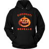 NFL - Cincinnati Bengals Pumpkin Football Shirt-T-shirt-Unisex Hoodie-Black-S-Itees Global