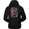 NFL - Atlanta Falcons Captain America Marvel Football American Flag Sweatshirt-T-shirt-Unisex Hoodie-Black-S-PopsSpot