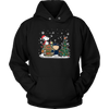 NFL – Chicago Bears Snoopy The Peanuts Movie Christmas Football Super Bowl Shirt-T-shirt-Unisex Hoodie-Black-S-PopsSpot