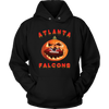 NFL - Atlanta Falcons Pumpkin Football Shirt-T-shirt-Unisex Hoodie-Black-S-Itees Global