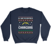 NFL - All I Want For Christmas Is San Diego Chargers Football Shirts-T-shirt-Crewneck Sweatshirt-Navy-S-Itees Global