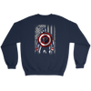 NFL - Atlanta Falcons Captain America Marvel Football American Flag Sweatshirt-T-shirt-Crewneck Sweatshirt-Navy-S-PopsSpot