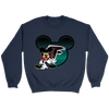 NFL – Atlanta Falcons Mickey Mouse Football Shirt-T-shirt-Crewneck Sweatshirt-Navy-S-PopsSpot