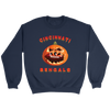 NFL - Cincinnati Bengals Pumpkin Football Shirt-T-shirt-Crewneck Sweatshirt-Navy-S-Itees Global