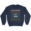 NFL - All I Want For Christmas Is New York Jets Football Shirts-T-shirt-Crewneck Sweatshirt-Navy-S-Itees Global