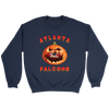 NFL - Atlanta Falcons Pumpkin Football Shirt-T-shirt-Crewneck Sweatshirt-Navy-S-Itees Global