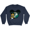 NFL – Green Bay Packers Mickey Mouse Football Shirt-T-shirt-Crewneck Sweatshirt-Navy-S-Itees Global