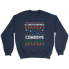 NFL - All I Want For Christmas Is Dallas Cowboys Football Shirts-T-shirt-Crewneck Sweatshirt-Navy-S-PopsSpot