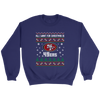 NFL - All I Want For Christmas Is San Francisco 49ers Football Shirts-T-shirt-Crewneck Sweatshirt-Purple-S-PopsSpot