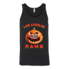 NFL – Halloween Pumpkin Los Angeles Rams Football NFL Shirts-T-shirt-Canvas Unisex Tank-Black-S-Itees Global