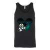 NFL – Carolina Panthers Mickey Mouse Football Shirts-T-shirt-Canvas Unisex Tank-Black-S-Itees Global