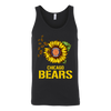 NFL - Chicago Bears Sunflower Football NFL Shirts-T-shirt-Canvas Unisex Tank-Black-S-Itees Global