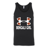 NFL – Cincinnati Bengals Girl Under Armour Football Shirts-T-shirt-Canvas Unisex Tank-Black-S-PopsSpot
