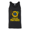 NFL - Carolina Panthers Sunflower Football NFL Shirts-T-shirt-Canvas Unisex Tank-Black-S-Itees Global