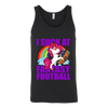 NFL – Chicago Bears Unicorn I Suck At Fantasy Football NFL Shirts-T-shirt-Canvas Unisex Tank-Black-S-PopsSpot