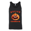 NFL – Halloween Pumpkin Dallas Cowboys Football NFL Shirts-T-shirt-Canvas Unisex Tank-Black-S-Itees Global