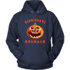 NFL - Cincinnati Bengals Pumpkin Football Shirt-T-shirt-Unisex Hoodie-Navy-S-Itees Global