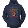 NFL - Cleveland Browns Christmas Grateful Dead Jingle Bears Football Ugly Sweatshirt-T-shirt-Unisex Hoodie-Navy-S-Itees Global