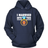 NFL - I Married Into This Chicago Bears Football Sweatshirt-T-shirt-Unisex Hoodie-Navy-S-PopsSpot