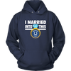 NFL - I Married Into This Indianapolis Colts Football Sweatshirt-T-shirt-Unisex Hoodie-Navy-S-PopsSpot