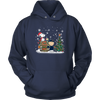 NFL – Chicago Bears Snoopy The Peanuts Movie Christmas Football Super Bowl Shirt-T-shirt-Unisex Hoodie-Navy-S-PopsSpot