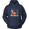 NFL – Denver Broncos Snoopy The Peanuts Movie Christmas Football Super Bowl Shirt-T-shirt-Unisex Hoodie-Navy-S-PopsSpot