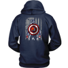 NFL - Cleveland Browns Captain America Marvel Football American Flag Sweatshirt-T-shirt-Unisex Hoodie-Navy-S-PopsSpot
