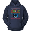 NFL - Carolina Panthers Christmas Grateful Dead Jingle Bears Football Ugly Sweatshirt-T-shirt-Unisex Hoodie-Navy-S-PopsSpot