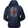 NFL - Atlanta Falcons Captain America Marvel Football American Flag Sweatshirt-T-shirt-Unisex Hoodie-Navy-S-PopsSpot
