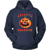 NFL - Atlanta Falcons Pumpkin Football Shirt-T-shirt-Unisex Hoodie-Navy-S-Itees Global