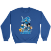 NFL - Detroit Lions Mickey Mouse Donald Duck Goofy Football Shirt-T-shirt-Crewneck Sweatshirt-Royal-S-PopsSpot