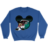 NFL – Atlanta Falcons Mickey Mouse Football Shirt-T-shirt-Crewneck Sweatshirt-Royal-S-PopsSpot