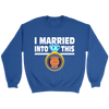 NFL - I Married Into This Chicago Bears Football Sweatshirt-T-shirt-Crewneck Sweatshirt-Royal-S-PopsSpot