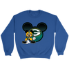 NFL – Green Bay Packers Mickey Mouse Football Shirt-T-shirt-Crewneck Sweatshirt-Royal-S-Itees Global