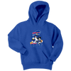 NFL - Buffalo Bills Mickey Mouse Donald Duck Goofy Football Shirt-T-shirt-Youth Hoodie-Royal Blue-XS-Itees Global