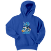 NFL - Detroit Lions Mickey Mouse Donald Duck Goofy Football Shirt-T-shirt-Youth Hoodie-Royal Blue-XS-PopsSpot