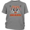 NFL - Chicago Bears Metallica Heavy Metal Football Sweatshirt-T-shirt-District Youth Shirt-Sport Grey-XS-Itees Global