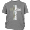 NFL – All I Need Today Is A Little Bit Of Green Bay Packers And A Whole Lot Of Jesus Football Shirt-T-shirt-District Youth Shirt-Sport Grey-XS-Itees Global