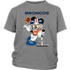 NFL – Denver Broncos Mickey Mouse Super Bowl Football Shirt-T-shirt-District Youth Shirt-Sport Grey-XS-Itees Global