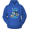 NFL - Detroit Lions Mickey Mouse Donald Duck Goofy Football Shirt-T-shirt-Unisex Hoodie-Royal Blue-S-PopsSpot